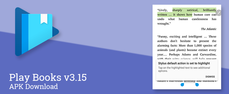 Play Books v3 15 adds stylus support for faster highlighting