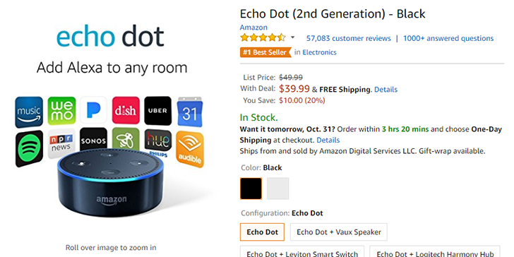 [Deal Alert] Echo Dot 2nd generation is $10 off ($39.99) at Amazon, Best Buy, and other stores