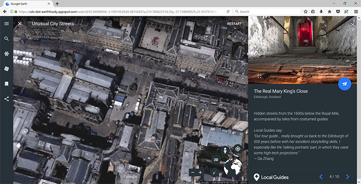 Firefox support for web-based Google Earth is in development