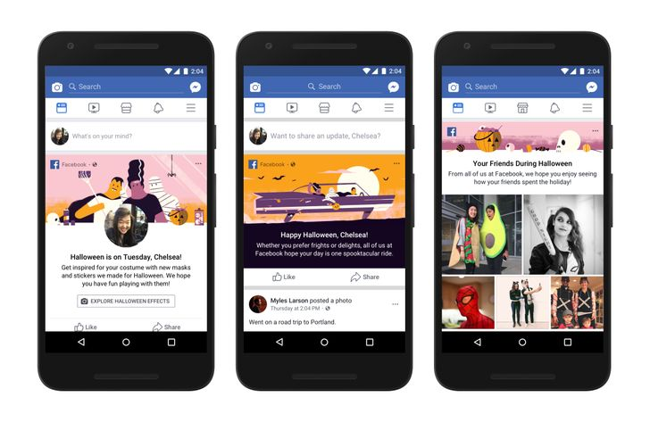 Facebook releases Halloween effects and mini-game for Facebook and Messenger apps