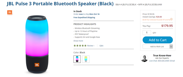 [Deal Alert] JBL's colorful Pulse 3 speaker is $180 at various retailers ($20 off)