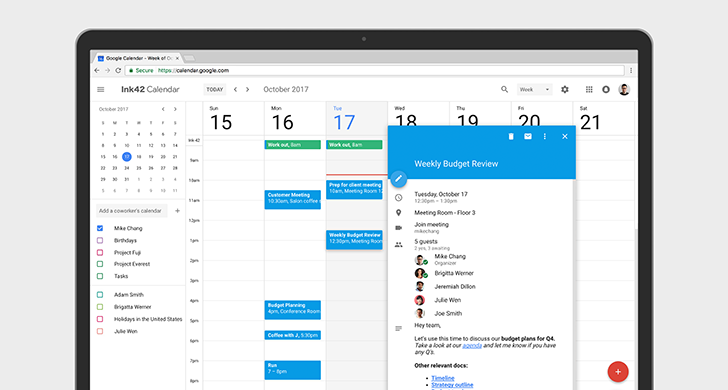 [Update: rolling out to G Suite customers] Google Calendar on the web finally moves to Material Design