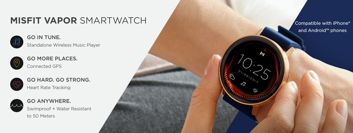 Following months of delays, Misfit Vapor smartwatch will be available October 31
