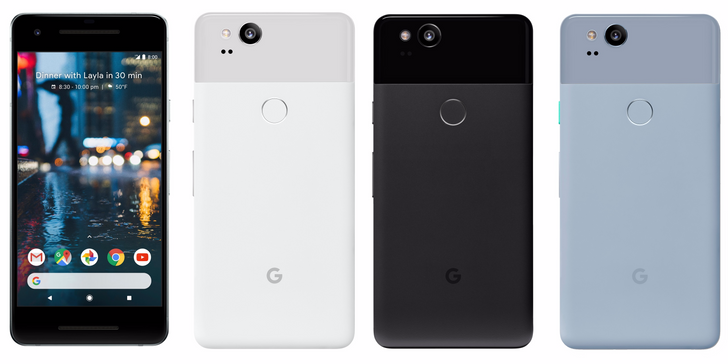 More detailed Pixel 2 pictures leak, show off all three colors