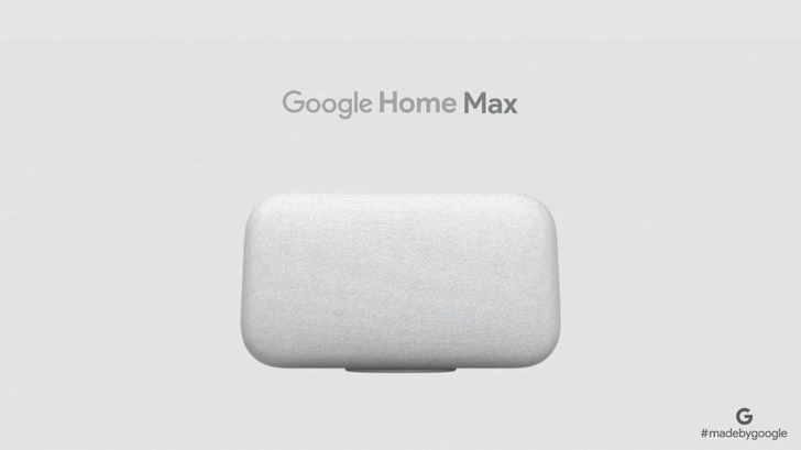 Google announces the $399 Google Home Max, a pumped-up version of the Google Home