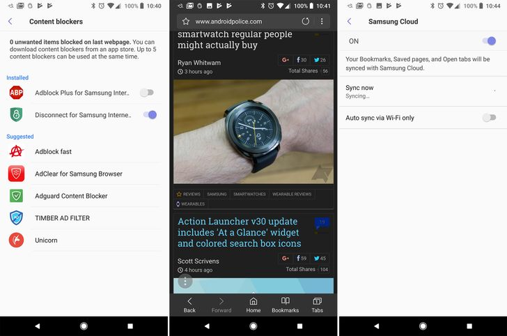 Samsung Internet v6.2 now available with night mode, tracking blocker, and more