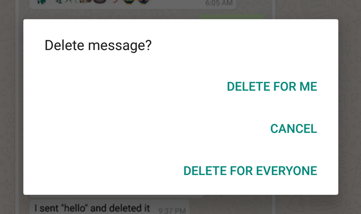 [Update: It's official] Deleting messages on WhatsApp for all recipients starts rolling out