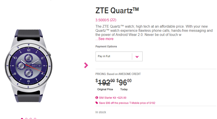 [Deal Alert] ZTE Quartz has dropped to $96 ($96 off) at T-Mobile