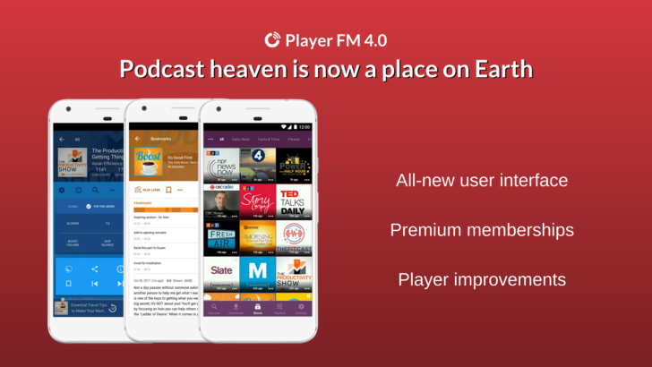 Player FM 4.0 update includes new UI, premium subscriptions, and plenty more