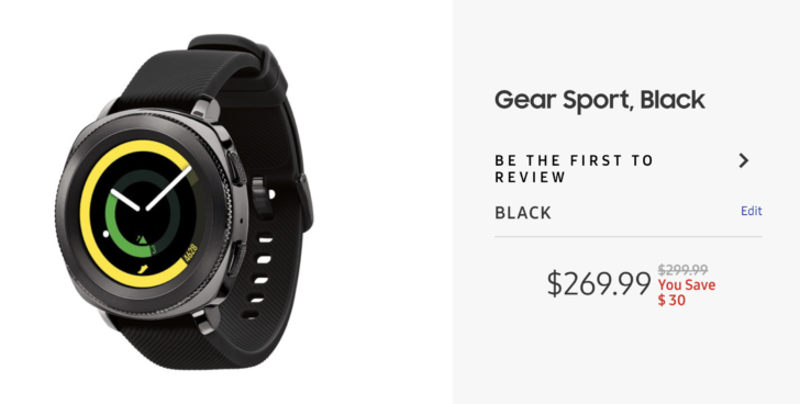 [Deal Alert] Get $30 off Samsung's Gear Sport and Gear Fit2 Pro smartwatches