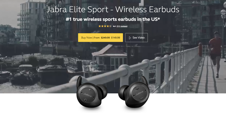 [Deal Alert] Jabra Elite Sport true wireless earbuds are $100 off at various retailers