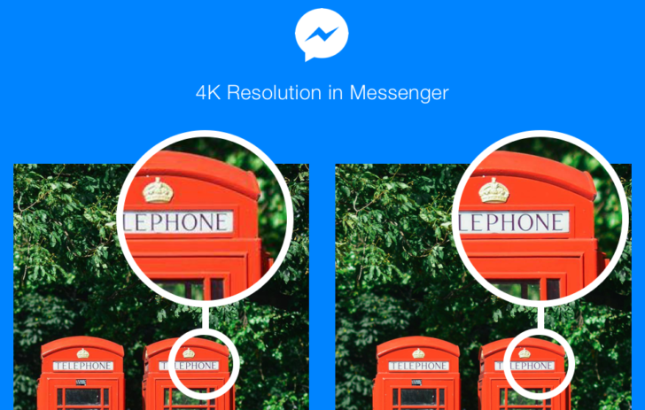 Facebook Messenger now lets you share photos at 4K resolution