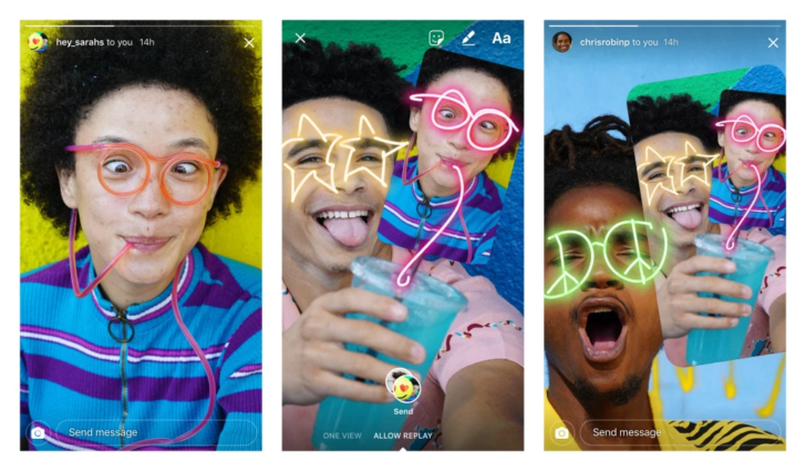 You can now 'remix' direct Instagram photo messages and send them back