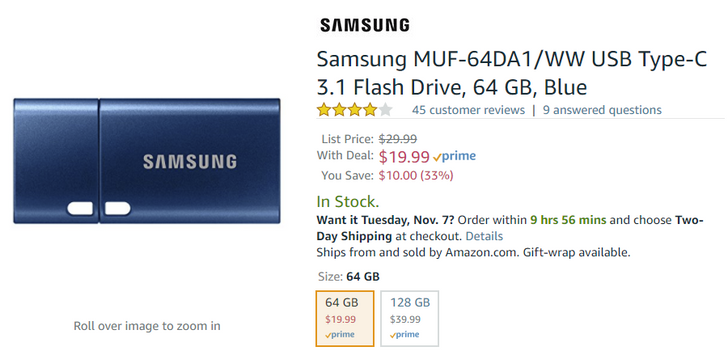 [Deal Alert] Samsung 64GB and 128GB USB-C flash drives just $19.99 and $39.99 on Amazon ($10-12 off)