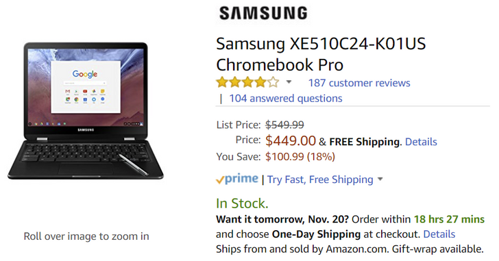 [Deal Alert] Samsung Chromebook Pro for $449 and Chromebook Plus for $349 ($100 off)