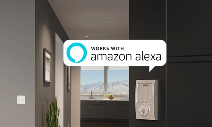 Schlage Sense Smart Deadbolt lock now works with Amazon Alexa for voice control