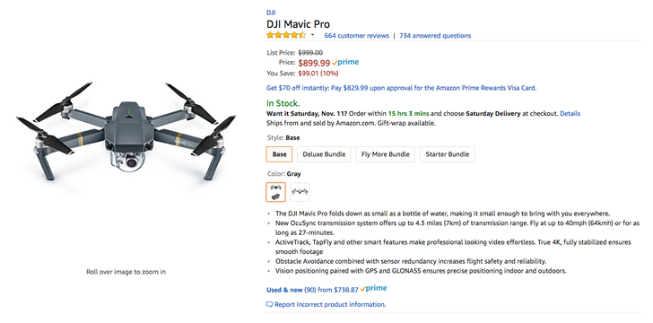 [Deal Alert] DJI Mavic Pro is just $899.99 ($100 off), $1,094 with Fly More bundle ($205 off) from Amazon [Update]