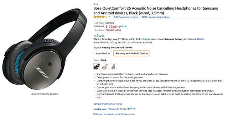 [Deal Alert] Bose QC25 noise-canceling headphones are down to $179 ($100 off) at several retailers