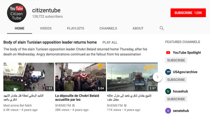 Google removes its own CitizenTube YouTube channel for some reason, reinstates it, but leaves it full of spam