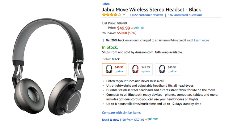 [Deal Alert] Jabra Move Wireless Bluetooth headphones are $49.99 ($50 off) at many retailers
