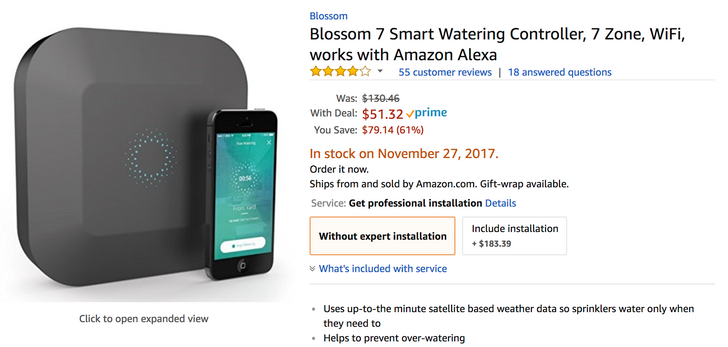 [Deal Alert] Blossom 7 Smart Watering Controller is only $51.32 ($79 off) on Amazon