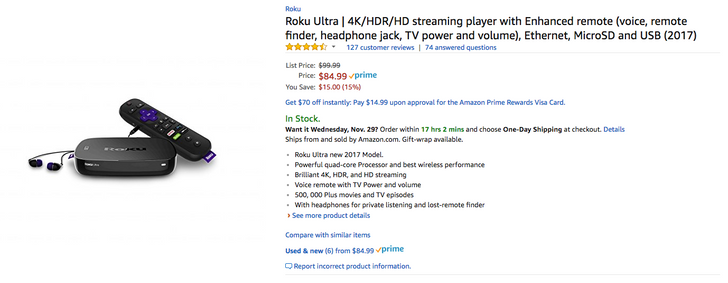 [Deal Alert] Roku Ultra (2017) is just $84.99 ($15 off) on Amazon