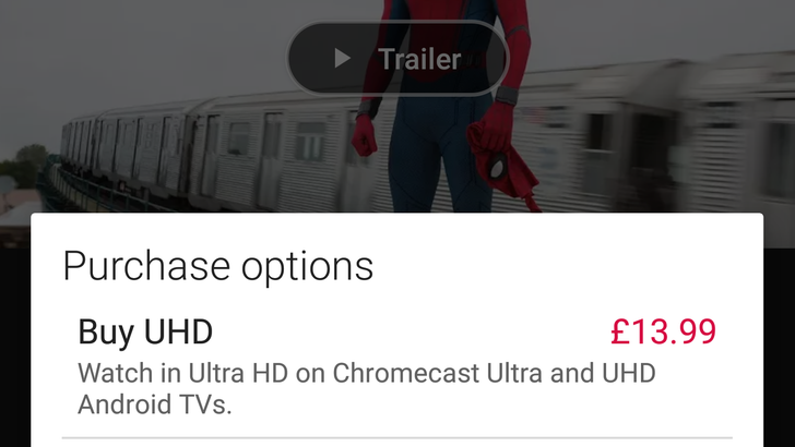 UHD content now available through Google Play Movies in the UK