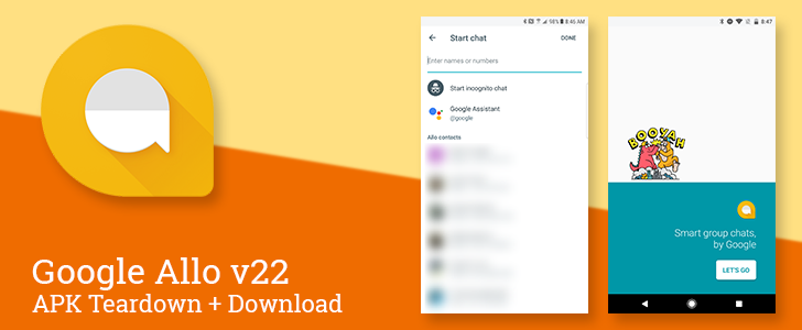 Allo v22 is testing streamlined new chat UI, preparing to add