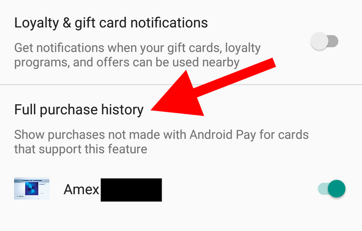 Android Pay starts showing full purchase history for supported cards
