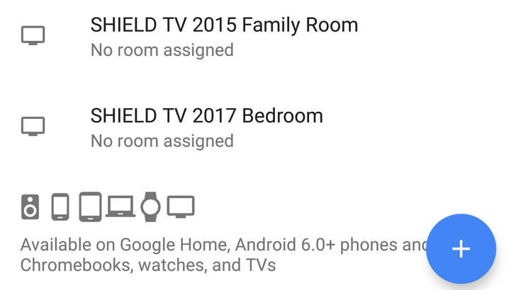 You can now assign Android TV devices with Assistant to specific rooms