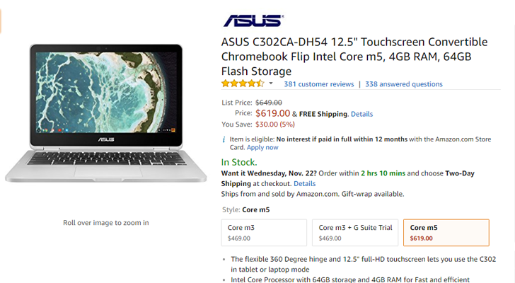 [Update: C213 now $50 off] Deal Alert: ASUS C302 m5, C101PA, and C213SA Chromebooks are $30 off