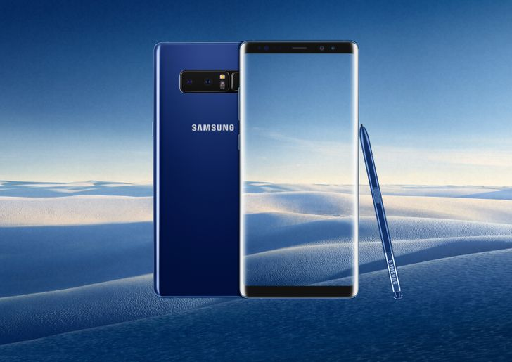 The 'Deepsea Blue' Galaxy Note 8 is coming to the US on November 16