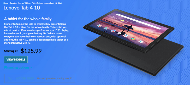 [Deal Alert] The 16GB WiFi-only Lenovo Tab 4 10 is $126 ($54 off)