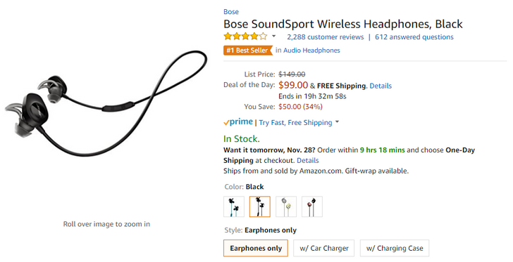 [Deal Alert] The Bose SoundSport Wireless Bluetooth earbuds are $99 today ($50 off)