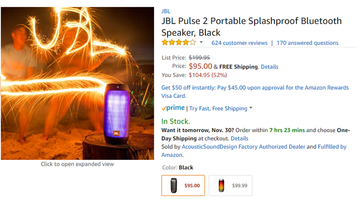 [Update: $79.95 now] Deal alert: JBL Pulse 2 is down to $95 on Amazon, half off its original MSRP