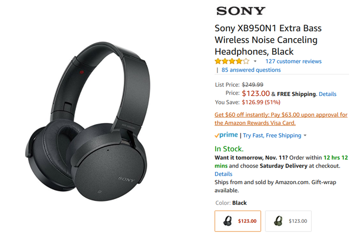 [Deal Alert] Sony's Extra Bass XB950B1 and XB950N1 wireless headphones are 50% off