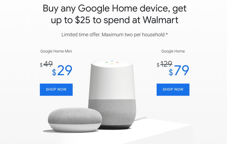 [Deal Alert] You can net a Google Home Mini for $4 with the Google Express $25 Walmart promo