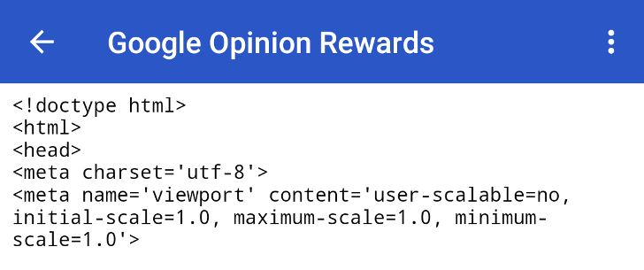 [Update x2: Now fixed] Google Opinion Rewards is broken for some users