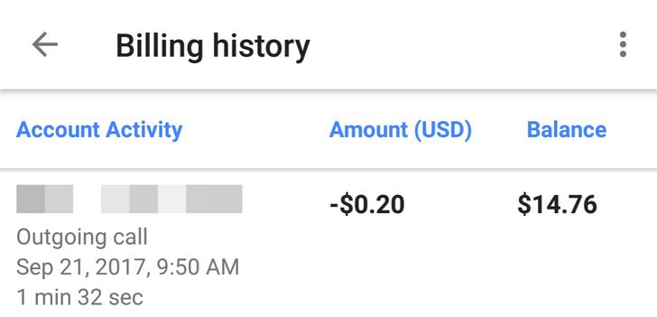 Google Voice 5.5 adds billing history [APK Download]