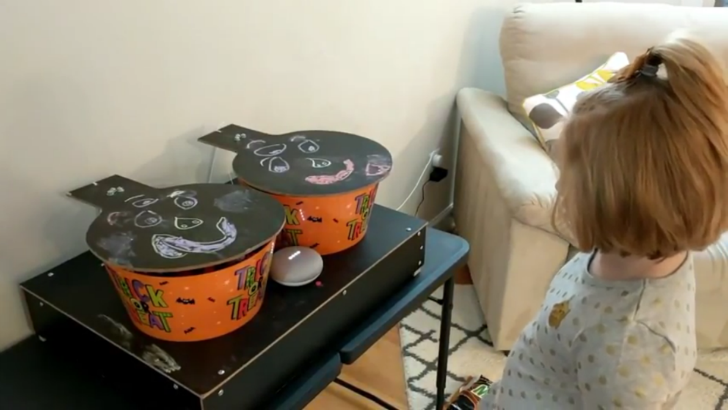Google Home and Android Things power these awesome Halloween trick or treat bowls