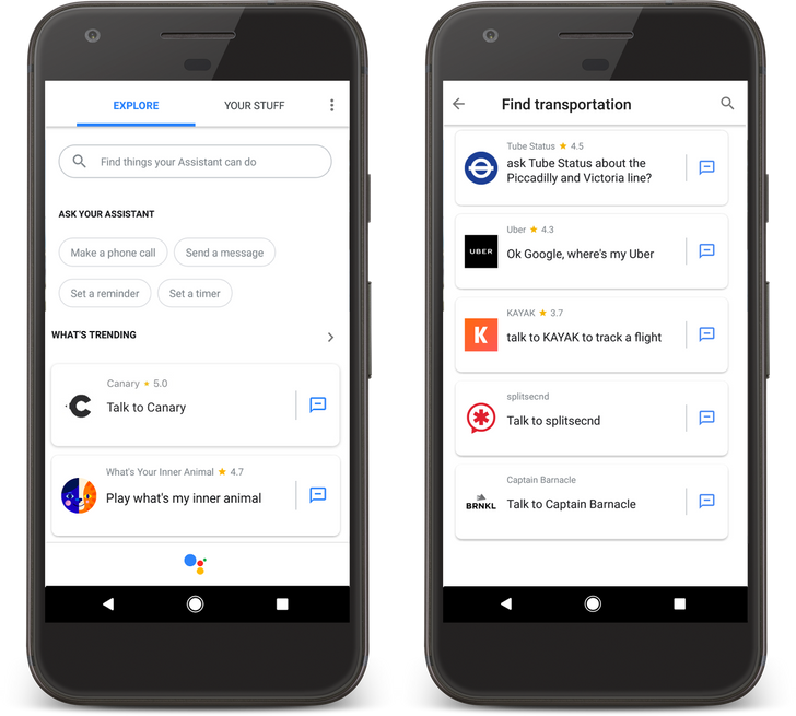 Google Assistant gets 'trending' and 'new' sections, additional subcategories, and more