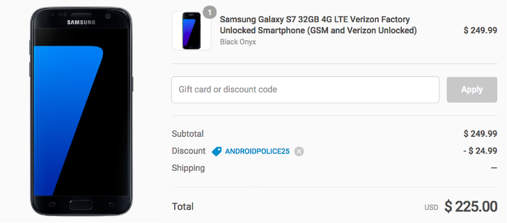 [Deal Alert] Refurbished 32GB Samsung Galaxy S7 for $225 at Daily Steals with our exclusive coupon code