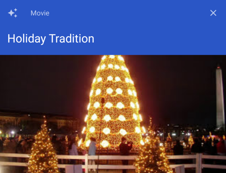 Google Photos adds holiday-themed movies in time for the festive season