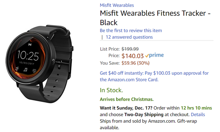 [Deal Alert] Misfit Vapor is available now on Amazon for $140 ($60 off)