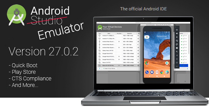 Android Studio's Emulator reaches stable channel with Quick Boot for 6-second startup times, Play Store support, and an assortment of other improvements