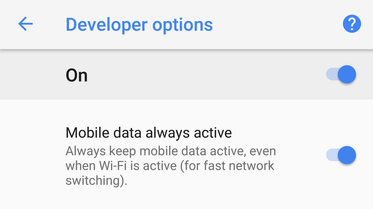"[FYI] For some, mobile data is now set to ""always active"" by default in Android Oreo"