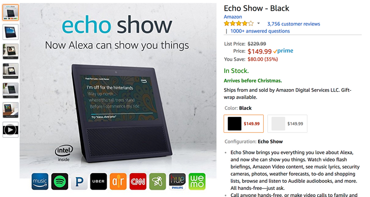 [Deal Alert] Amazon Echo Show is $149.99 ($80 off), Cloud Cam is $89.99 ($30 off), Key In-Home Kit is $199.99 ($50 off)