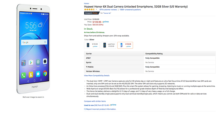 [Deal Alert] Get an Honor 6X for just $139.99 ($60 off) at Amazon and B&H