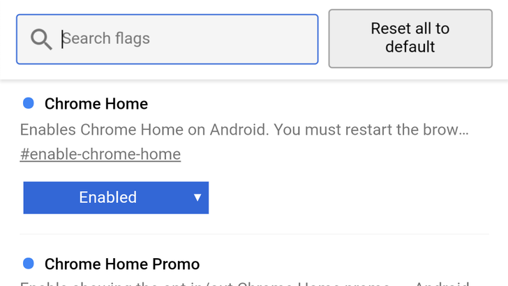 Chrome 64 makes it easier to find the flags you changed
