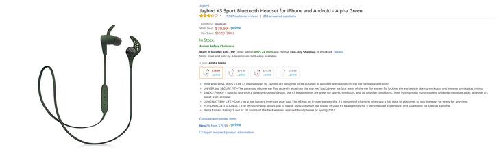 [Deal Alert] Grab a pair of the Jaybird X3 Bluetooth earphones for $80 ($50 off)
